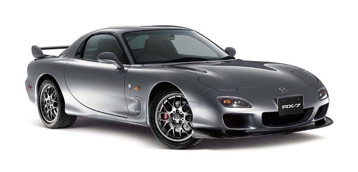 Imagen fronto-lateral Mazda RX-7