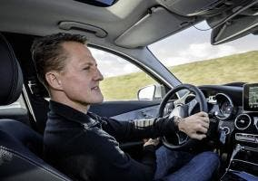 Michael Schumacher probando el Mercedes Clase C 2015