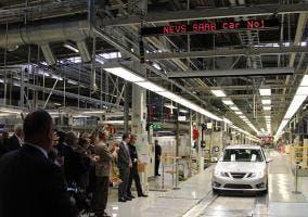 Primer Saab 9-3 de la nueva cadena de producción