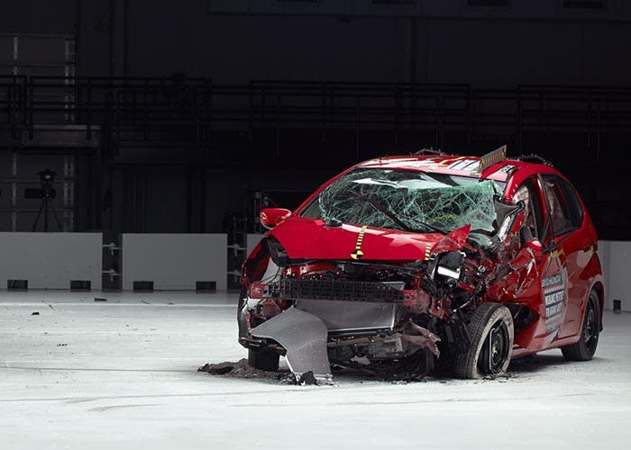Crash Test de un Honda Jazz