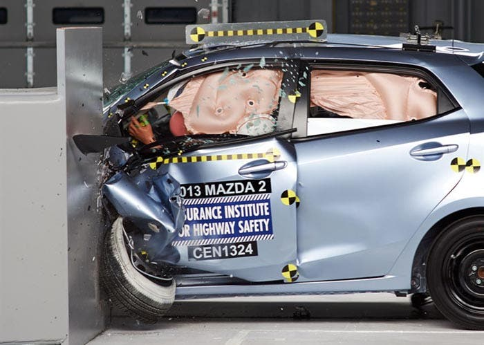Crash Test de un Mazda 2