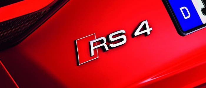 Siglas del Audi RS 4