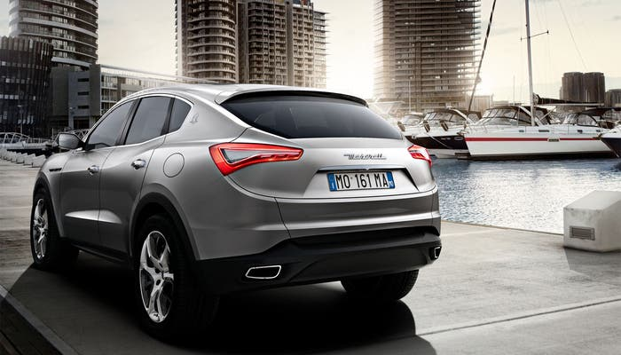 Vista trasera del nuevo Maserati Levante