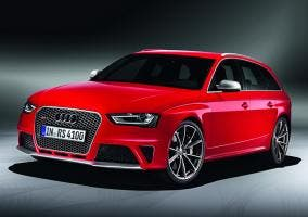 Vista frontal del Audi RS4 Avant
