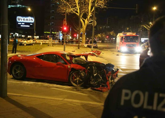 Accidente 458 Speciale en Berlín