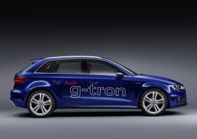 Vista lateral del Audi A3 G-tron