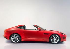 Lateral del Jaguar F-Type Targa