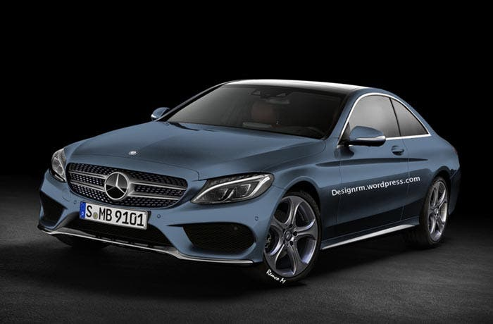 Frontal del Mercedes Clase C Coupé