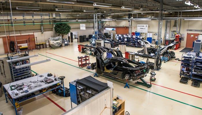 Koenigsegg One producción vista general instalaciones