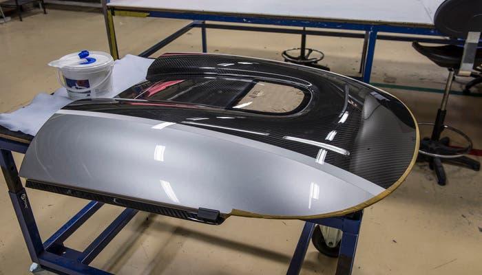 Koenigsegg One producción vista techo