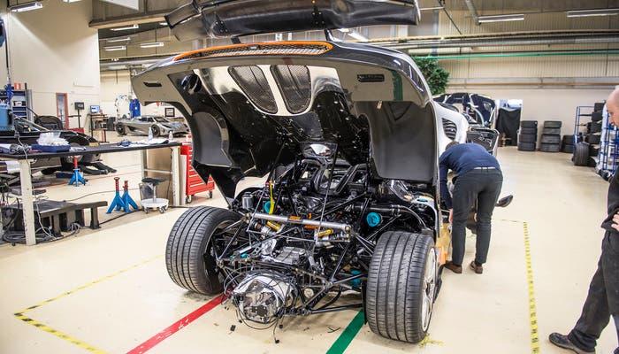 Koenigsegg One producción vista trasera