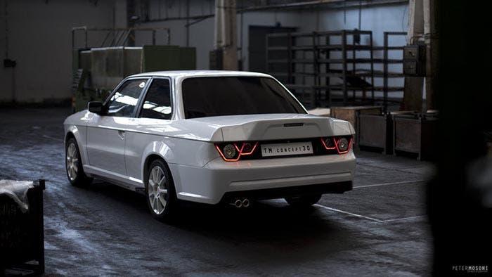 Trasera del BMW Serie 3 E30