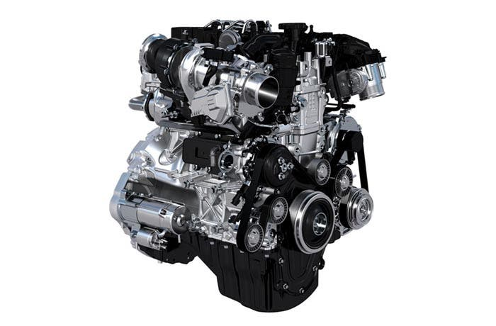 Motor de cuatro cilindros de Jaguar