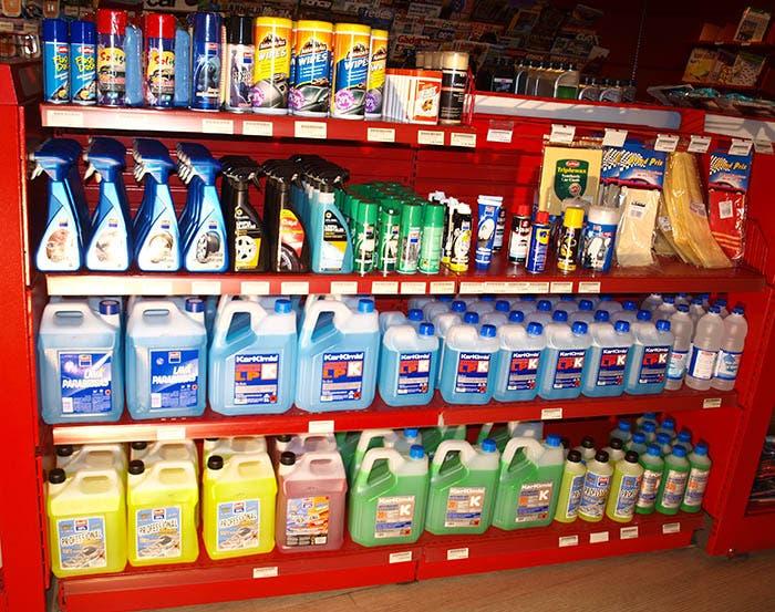 Productos para la limpieza del vehículo