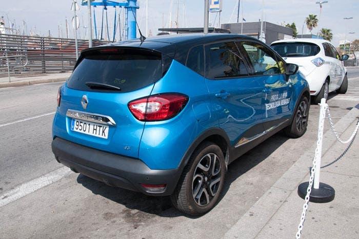 Vista trasera del Renault Captur