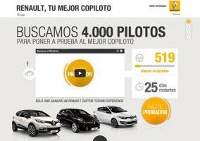 Web de la Renault Techno Experience