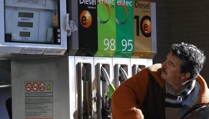 Surtidores de la gasolinera