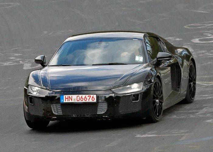 Frontal de la mula de pruebas del nuevo Audi R8