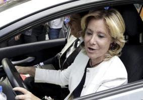 El coche de Esperanza Aguirre