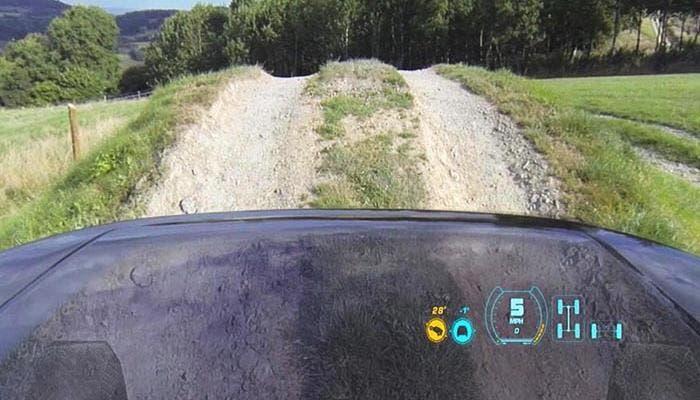 Sistema de capó transparente de Land Rover