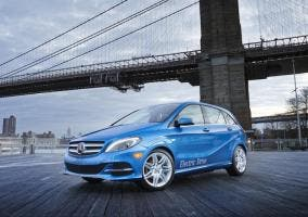 Frontal del Mercedes Clase B Electric Drive