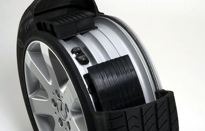Así es un neumático antipinchazos