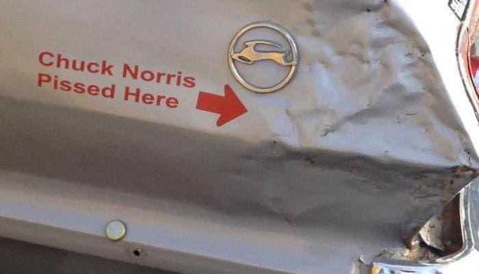 Pegatina de Chuck Norris