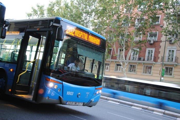 Autobús transporte público de Madrid