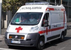 Ambulancia Fiat de la Cruz Roja