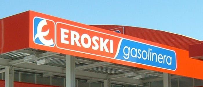 Rótulo gasolinera Eroski