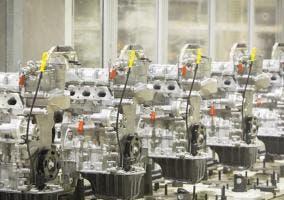 Línea de producción de los motores 1.2 HTP de Skoda