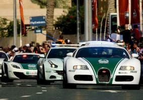 Los coches de la Policía de Dubai