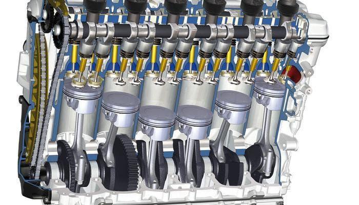 Cilindros y pistones de un motor