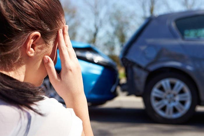 Implicada en un accidente