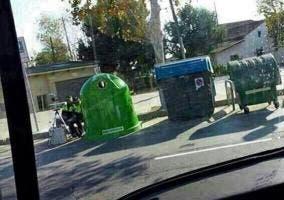 Radar escondido en los contenedores de basura