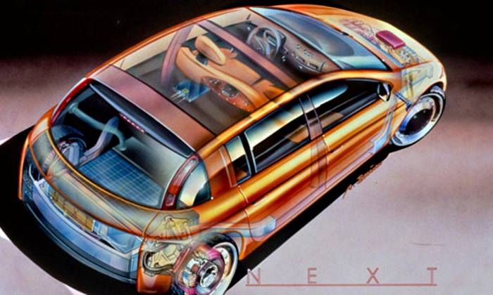 Dibujo esquemático del Renault Next