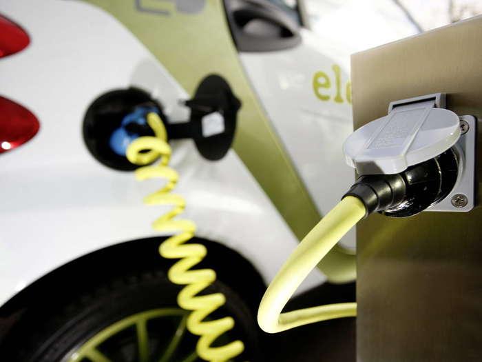 Recarga de un vehículo eléctrico