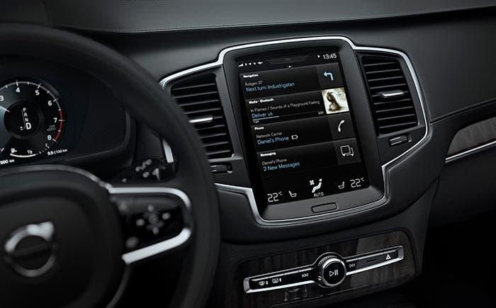 Volvo con Android Auto funcionando