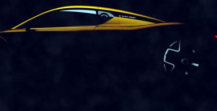 Vista lateral del RenaultSport R.S. 01