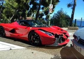 Accidente de un Ferrari LaFerrari