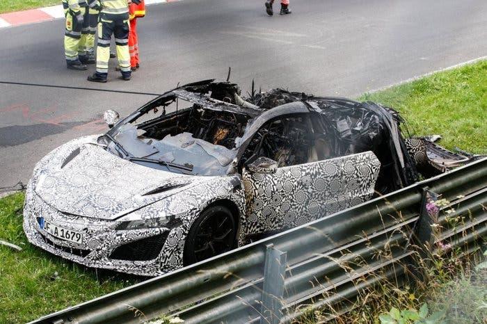 Honda NSX quemado