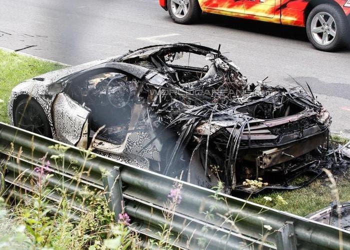 Acura NSX quemado