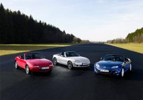 Tres generaciones del Mazda MX-5