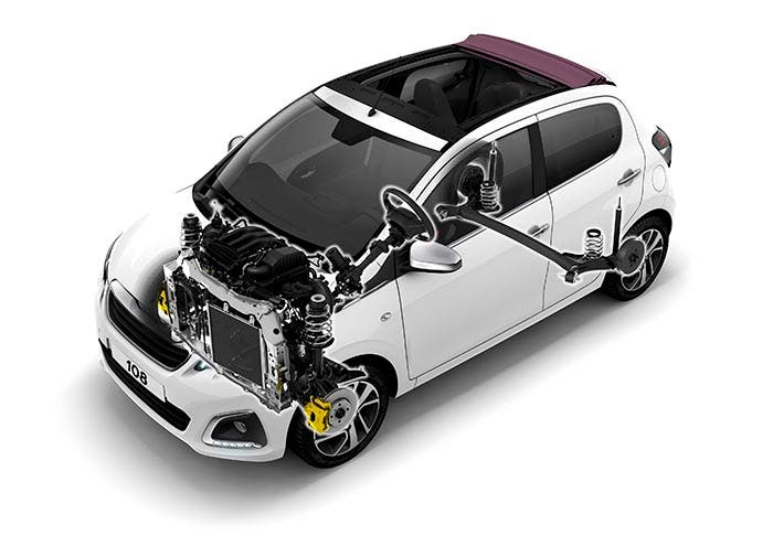 Motor del Peugeot 108