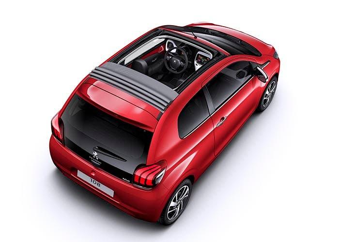 Vista superior del Peugeot 108