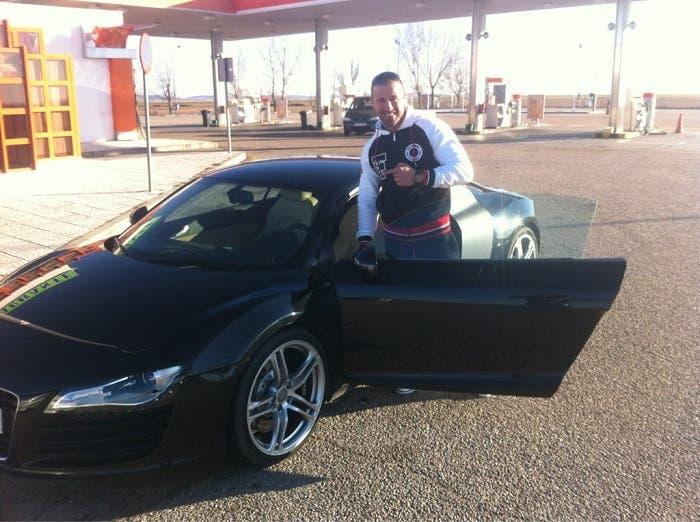 Rafa mora con un Audi R8