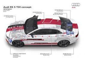 Sistema eléctrico de 48 voltios en un prototipo de Audi