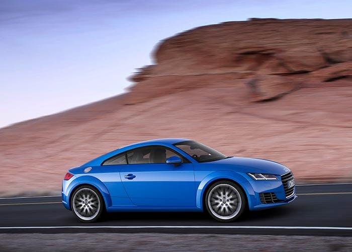 Vista lateral del nuevo Audi TT
