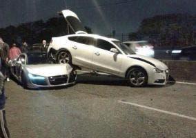 Accidente entre un R8 y un A5