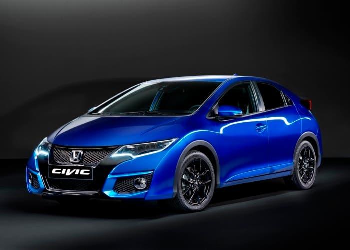 Vista frontal lateral del nuevo Honda Civic Sport